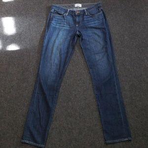 Paige jimmy jimmy skinny medium wash blue jean